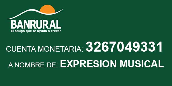 Número de cuenta Expresion Musical BANRURAL