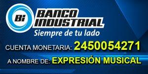 Número de cuenta monetaria Expresion Musical Banco Industrial