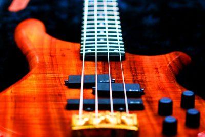 bass, guitar, koa