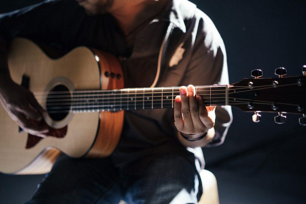 acoustic, guitar, guitarist
